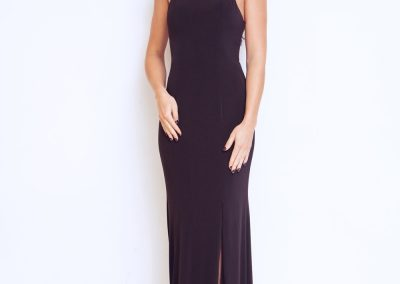 Dynasty Ari Nightshade long prom dress with scarf style 1013127