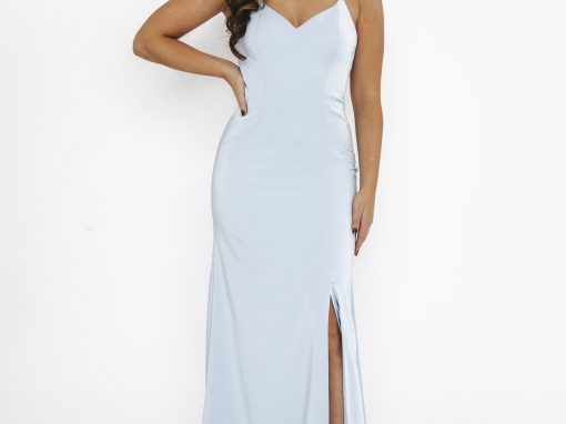 Dynasty Prom Dress Front Split Cross Back 1013611