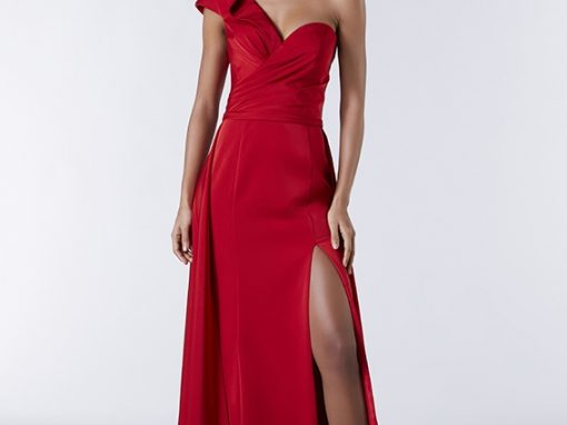 Tiffanys Red One Should Slit Jazz Prom Dress