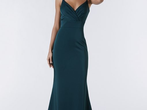 Tiffanys Slim Elegant Green Prom Dress Naomi