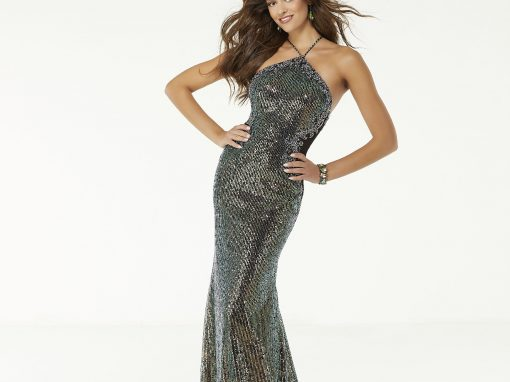 Morilee Sequinned Fitted Prom Dress 45020