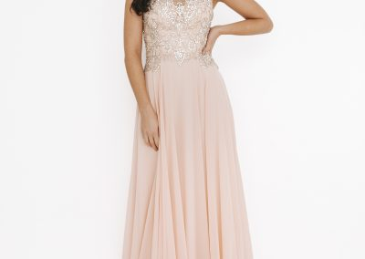 Dynasty Sequinned Detailed Sheer Lace Long Dress 1013601