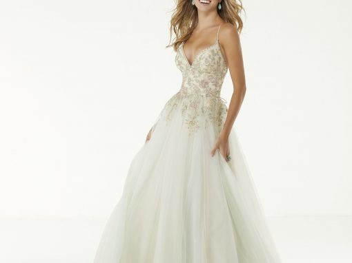Morilee Glitter Fitted Prom Dress 45019
