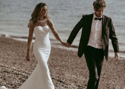 Frock uk fitted bridal gown