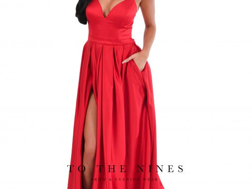 To The Nines Satin Prom Dress